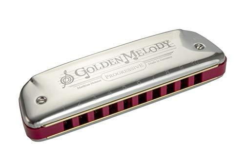Hohner Golden Melody 542/20CX–Armonica, Korpus aus Kunststoff rot