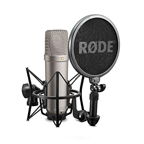 Rode NT-1A  Großmembran-Kondensatormikrofon mit goldbedampfter und elastisch gelagerter 2,5 cm (1 Zoll) Nierenkapsel