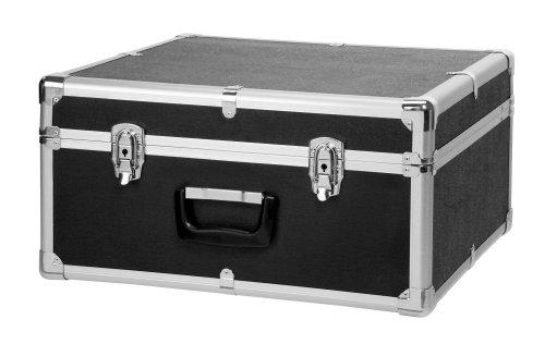 Classic Cantabile Akkordeonkoffer für 72 Bass Akkordeons (Hartkoffer, Gigbag Case, schwarz gepolstert, Tragegriff, Metallbeschläge, 4 Standfüße, Innenmaße ca. 48 cm x 48 cm x 24 cm)