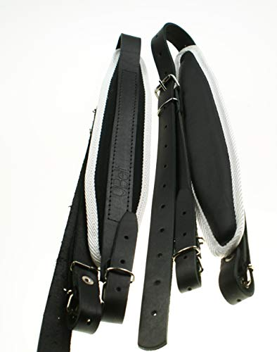 Akkordeon gurt leder 6cm 80-120 Bass Schulterriemen
